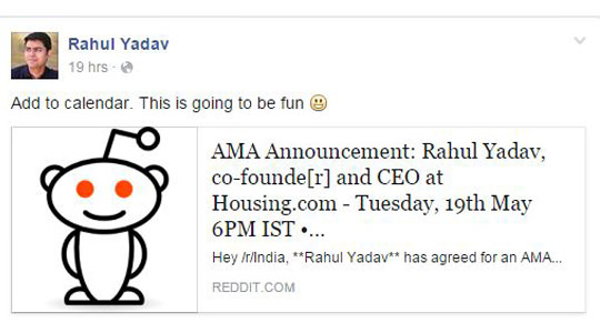 Rahul Yadav to hold Reddit AMA session   The Plunge Daily