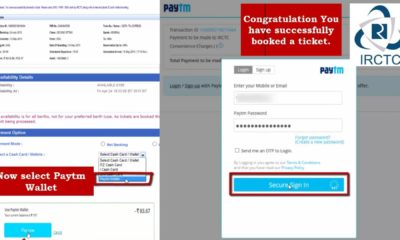 Paytm and IRCTC