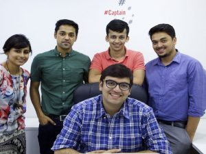 Qyura founder, Siddhant, with his team.