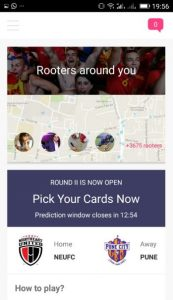 Rooter app sports fans live sporting events