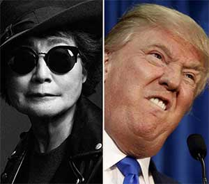 Yoko Ono's Response on Donal Trump's election as US President