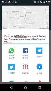 Walnut, app, cash, atms, demonitisation, blackmoney