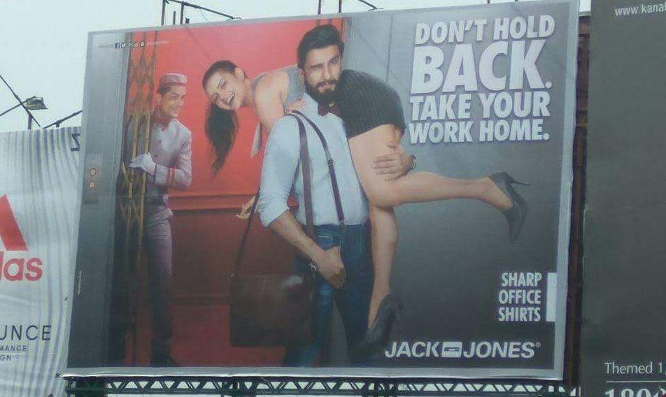 Sexist Jack and Jones Advertisement with Ranveer Singh