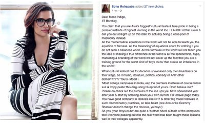 Sona Mohapatra criticises IIT Mumbai, a case of a business deal going sour or more?