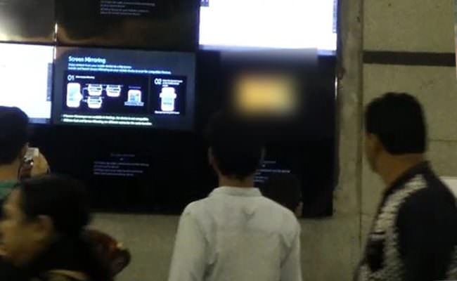 Porn clip played at Rajiv Chowk metro station