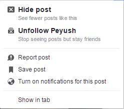 clean your Facebook newsfeed