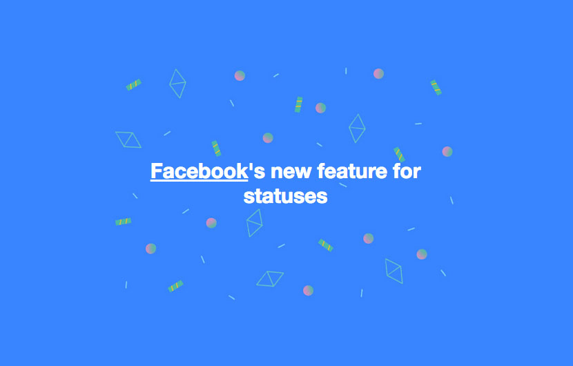 Vypadek Facebook Wallpaper: Here's How To Create Facebook Statuses With Colorful