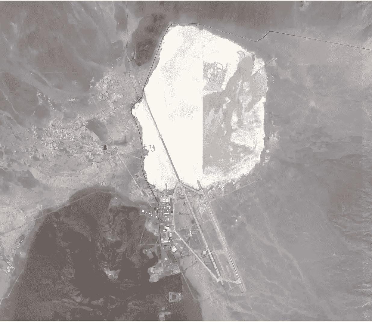 Area 51 on Strava Heatmap