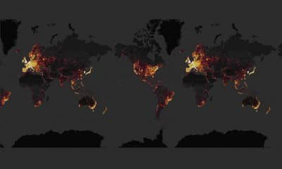World on the Strava Heat Map