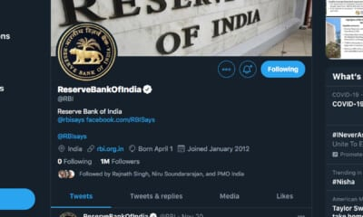 With over 1 million followers, RBI Twitter handle creates world record