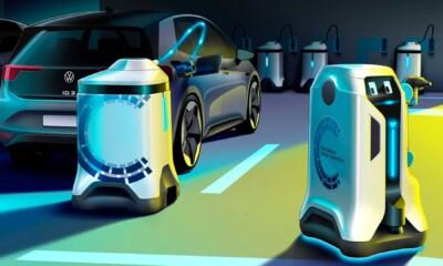 Volkswagen designs mobile charging robot