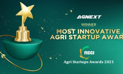 "AgNext achieves ""Most Innovative Agri Startup Award"" in Virtual FICCI Summit & Awards"