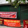 Bank employees across India protest against government's moves of privatization