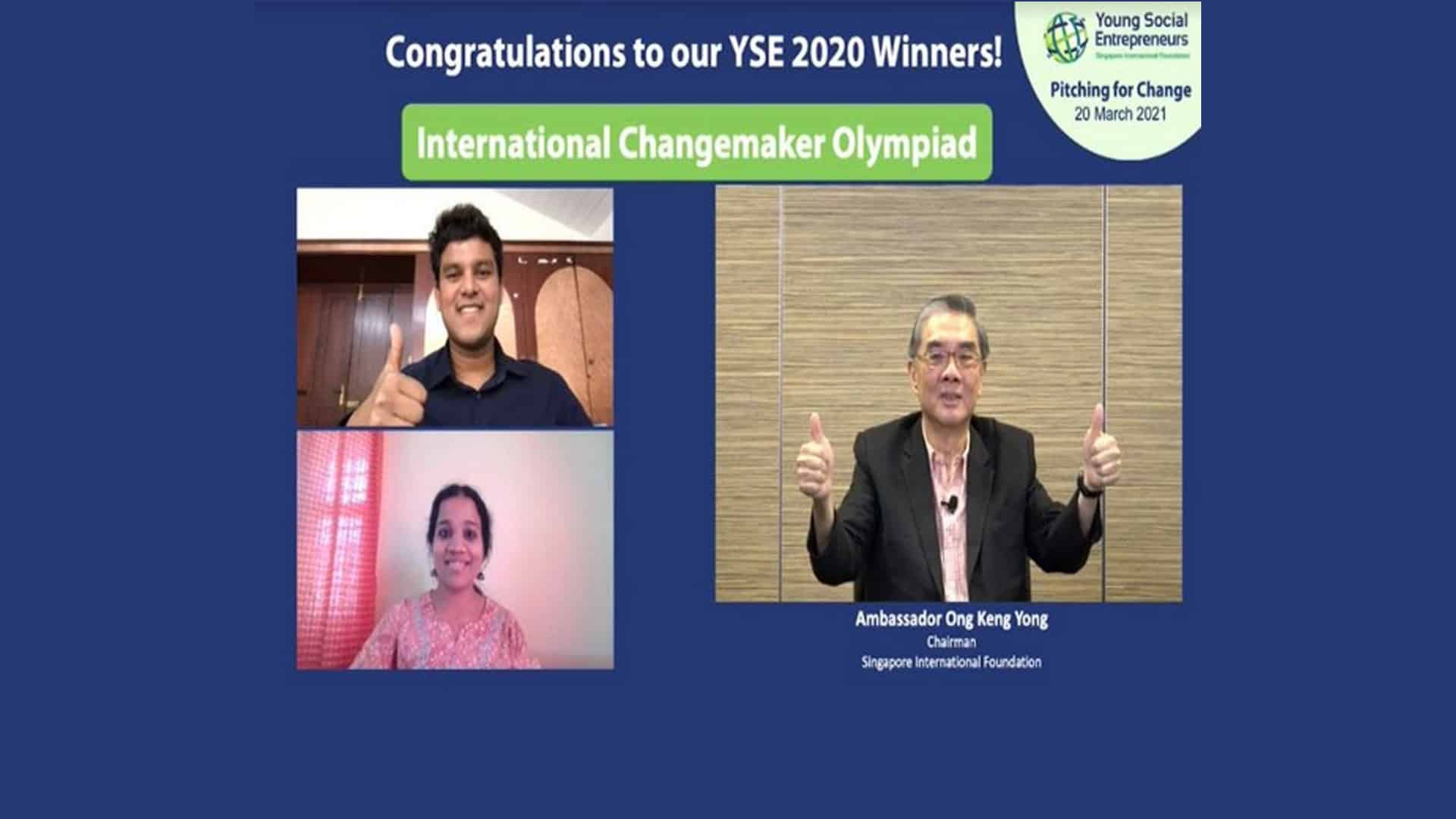 IIT Gold-Medalist's Ed-Tech Organization Wins the Young Social Entrepreneurs Global Award in Singapore