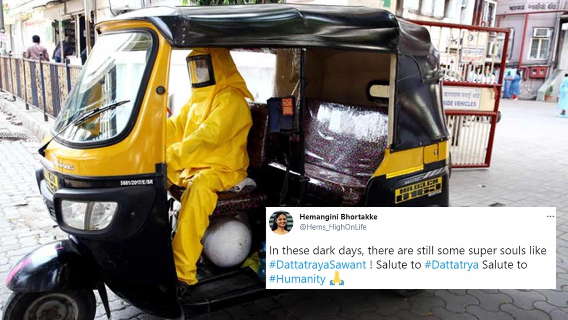 Mumbai School Teacher-Turned-Auto Rickshaw Driver Is Ferrying covid patients