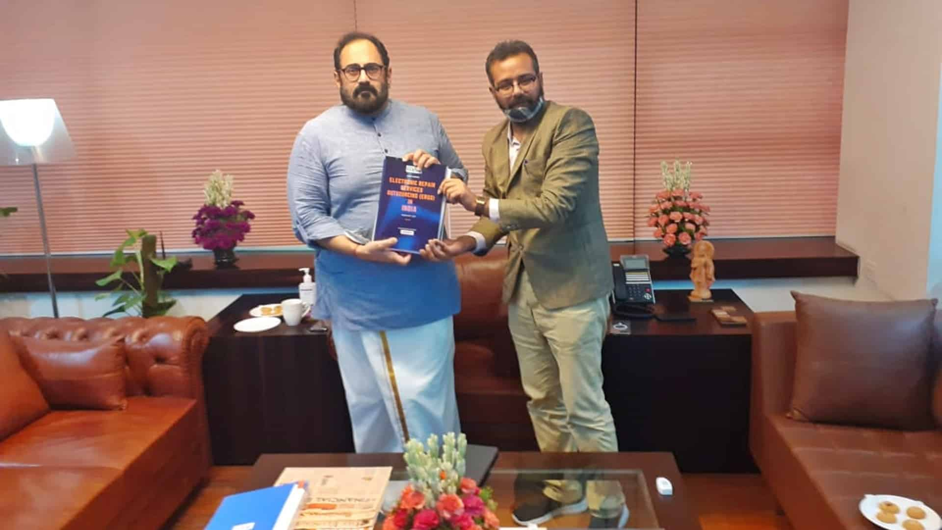 Rajeev Chandrasekhar holds virtual meet with apex Electronics & Telecom body MAIT, Industry captains