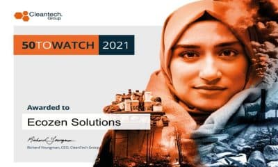 Ecozen makes it to Cleantech Group 50 Watch List